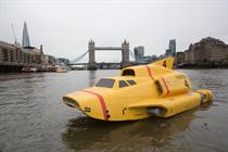 In pictures: Thunderbird 4 sails down the Thames for TV launch