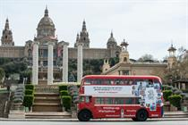 Not an April Fools'! Three brings 'selfie bus' to Barcelona for Brits abroad