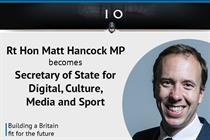 Matt Hancock succeeds Karen Bradley as culture secretary
