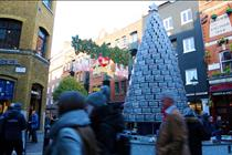 Lurpak targets 'food lovers' with giant Christmas tree