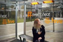 British Gas' Hive bus shelter heats up with a Twitter request