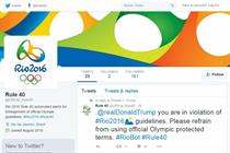 Twitter pulls fake Olympics 'Rule 40' account
