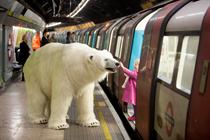Giant polar bear unleashed in London for Sky Atlantic stunt