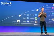 Facebook ad revenue up 49% despite user number fall
