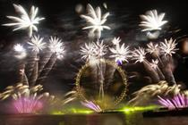 In pictures: Sweet success at multi-sensory NYE London fireworks