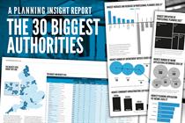 The 30 biggest planning authorities