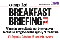 "Campaign Breakfast Briefing: ""When the consultants met the creatives - Accenture, Droga5 and the agency of the future"" 