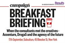 Campaign US' next Breakfast Briefing: Verizon, Diageo, Accenture, Droga5 and more