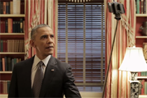 Obama grabs a selfie stick to promote Healthcare.gov