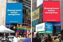 Reddit co-founder buys NYC billboards urging people to stay home