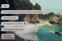 Visit California sends loving 'texts' to consumers in new campaign
