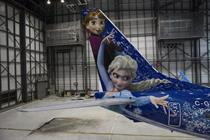 Passenger jet gets 'Frozen' treatment with 21-day paint job