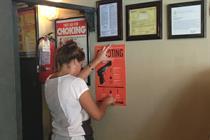 Saatchi goes door-to-door in NYC with mass-shooting poster