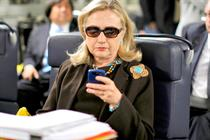 Hillary Clinton shows her colors in Instagram debut