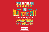 Seamless' 'wiseass and honest' ads aim to win over New Yorkers' hearts and bellies