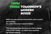 Thom Yorke emails 'respect' for social media refuseniks