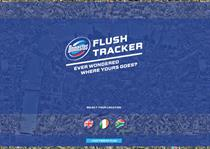 Domestos 'flush tracker' by Lean Mean Fighting Machine