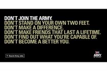 """Army """"don't become a better you"""" by Karmarama"""