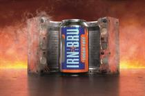 """Irn-Bru """"made of irn"""" by Leith"""