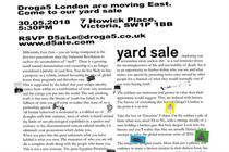 "Droga5 London ""Yard sale"" (in-house)"