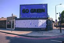 "O2 ""Go green"" by Talon Outdoor"