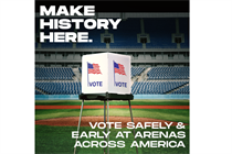 Creative leaders team up to promote voting in sports arenas