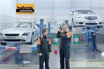 """Halfords Autocentre """"dedicated motoring"""" by Mother"""