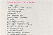 "Refuge ""Remembering my father"" by McCann Bristol"