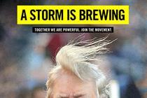 Amnesty International ruffles Trump's hair on roving billboards in DC