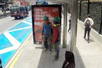 Kit Kat billboards give Bogotá's stressed-out commuters back massages