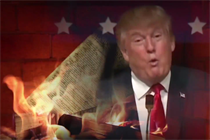 """""""The Daily Show"""" has the best Yule log video. It's tremendous, folks."""