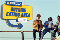 """Greggs """"Available everywhere. Enjoyed anywhere"""" by Drummond Central"""