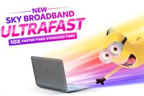 "Sky ""Ultrafast speed broadband"" by Engine Creative"