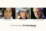 Daily Telegraph 'it pays to think big' by Adam & Eve