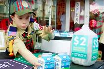 Boy Scouts join Girl Scouts' cookie drive to ask, 'Got Milk?'