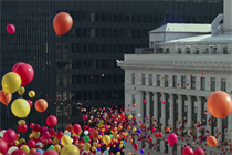 Apple fills the sky with brilliant balloons for iPhone 7 spot