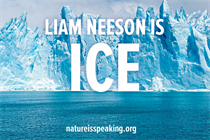 Ice sounds like Liam Neeson in scary climate-change spot