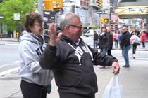 Snickers' Marilyn Monroe isn't herself when pedestrians stare