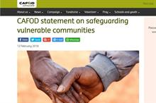 Cafod puts employee implicated in Oxfam case on leave