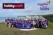 Business Charity Awards: Charity Partnership, Fashion and Retail - Hobbycraft with Together for Short Lives
