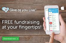 Shoppers can fundraise for thousands of charities with Give as you Live app