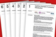 Fundraising Regulator and IoF publish free GDPR guidance