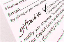 Government to simplify Gift Aid donor benefit rules