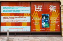 Cardiff shop window turned into contactless donation point to help homeless