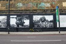 Oxfam mural aims to show damage caused by climate change