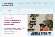 Baring Foundation offers grants of up to £100k to charities with legal expertise