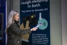 Building society trials contactless donations point