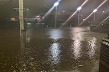 I co-ordinated the comms response to flooding while trapped in a shopping centre