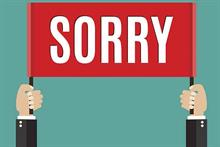 The power of the (well-deployed) written apology