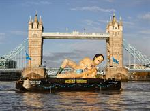 Floating Borat down the Thames symbolises an industry floundering for ideas and purpose